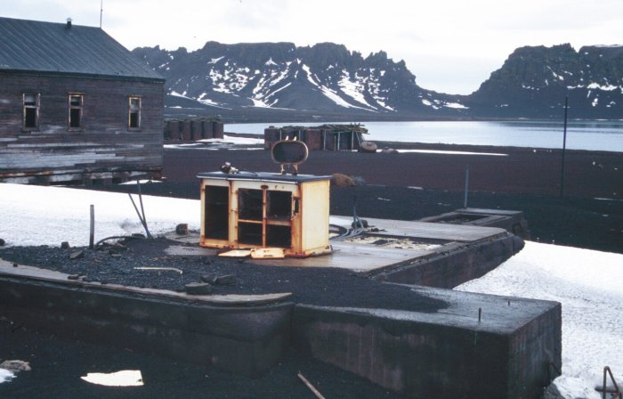 All that remains of one of the buildings on Deception Island is the Aga. My mother would be proud - although it could do with a clean.
