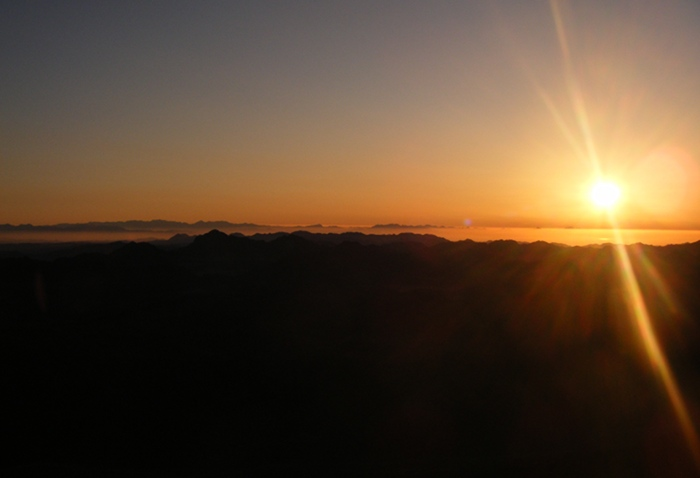 Another early morning shot from the top of Mount Sinai.