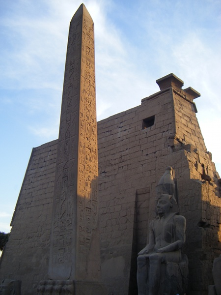 An obelisk at Luxor Temple.