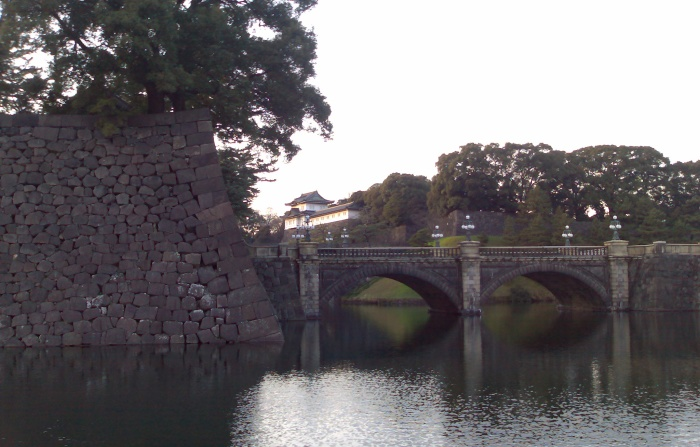 Niju-bashi - the only part of the Tokyo Imperial Palace that you can see. Tall walls and a moat protect the rest of the Palace.