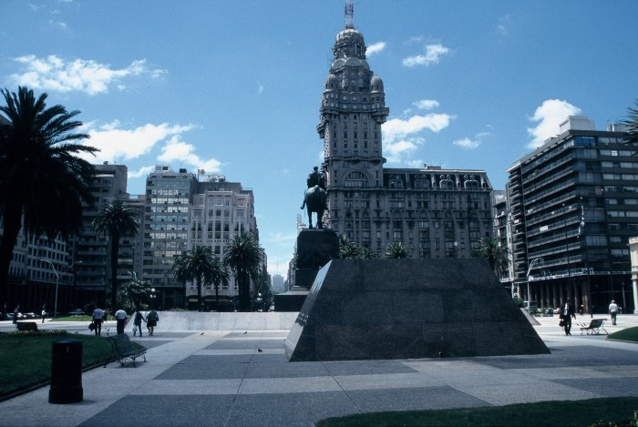 The main square in Montevideo, Uruguay.
