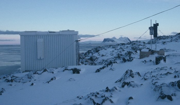 Some of the experiments that I looked after at Rothera. A Low Power Radiometer studying atmospheric gravity waves upto 100 Km above the Earth and the GATF hut containing more sophisticated optical experiments studying the atmosphere above the Antarctic.